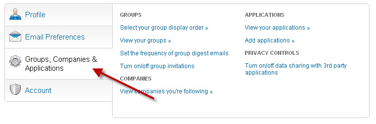 LI - Groups Tab